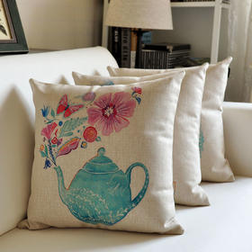 欧式风亚麻抱枕含枕芯枕套(沙发靠垫、办公室抱枕)款式随机 买5赠1【秒杀】