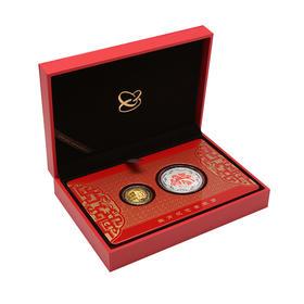 鸡年生肖(3克金+30克银)纪念章套装