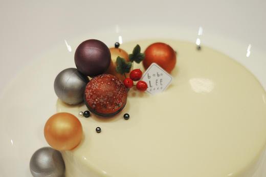 圣诞款白巧克力覆盆子慕斯蛋糕WHITE CHOCOLATE RASPBERRY MOUSSE CAKE  商品图4