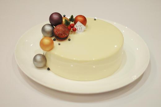 圣诞款白巧克力覆盆子慕斯蛋糕WHITE CHOCOLATE RASPBERRY MOUSSE CAKE  商品图1