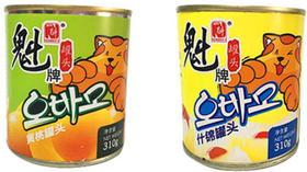 魁氏水果罐头 地道大连黄桃 给你一点甜甜 不添加色素防腐剂
