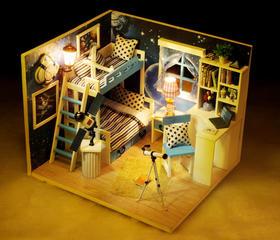 【diy】*DIY小屋 太空梦 3D立体拼装模型玩具 陈列道具 创意生日礼物 | 基础商品