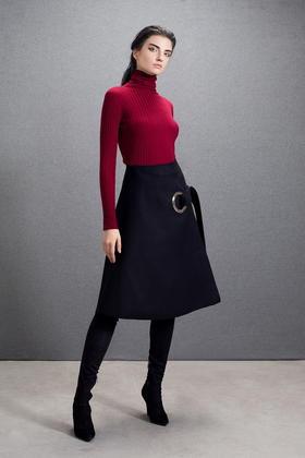 巴素兰羊毛超柔手感细腻高弹贴身基础多色坑条打底毛衣