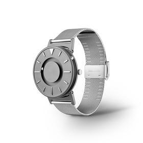 美国EONE The Bradley磁力触感手表|经典银灰 触摸感知时间|简约时尚|瑞士石英机芯|钛金属表壳