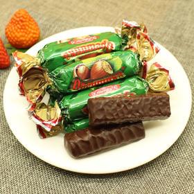 【巧克力】俄罗斯进口榛子夹心巧克力 绿榛子巧克力 喜糖休闲零食年货
