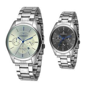 男士防水商务不锈钢手表 经典表盘 黑白款