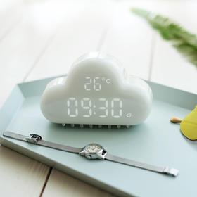 【为思礼 MUID】二代 创意云朵小闹钟 贪睡闹钟 usb电池供电 声控激活