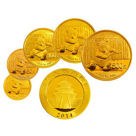 2014 熊猫纪念金币5枚套币 | 基础商品
