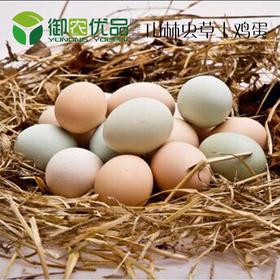 正宗新鲜农家土鸡蛋只有山林只吃草虫为食60个30个40个装包邮
