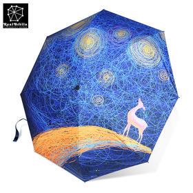 realbrella锐乐鹿寒不会淋湿肩膀太阳伞 黑胶防晒晴雨伞遮阳伞夏