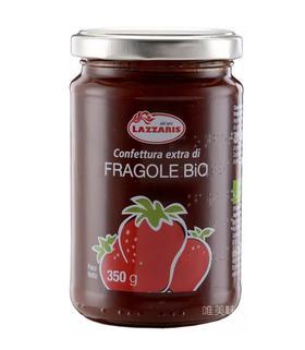 【保真】意大利原装进口 百年品牌朗泽瑞斯Lazzaris 欧盟标准有机无添加 草莓果酱 宝宝早餐 Brunch 下午茶 轰趴 野餐 350g 包邮