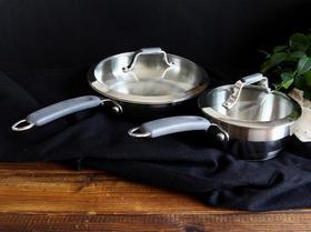 外贸 【真】304不锈钢 中西两用平底锅 + 奶锅沙司锅 套组