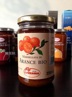 【保真】意大利原装进口 百年品牌朗泽瑞斯Lazzaris 欧盟标准 无添加有机橙子果酱 早餐 Brunch 下午茶 郊游 350g 食尚好礼 包邮