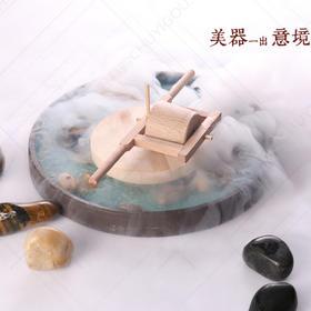 木质盛器【005】创意盘饰 盘饰点缀 石磨木器