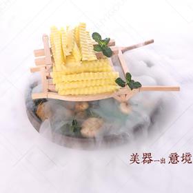 木质盛器【006】创意盛器 创意菜盘饰 创意推车餐具