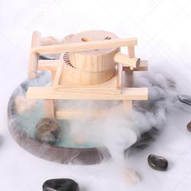 木质盛器【002】创意菜盘饰 创意木器 餐桌盘饰 石磨豆花