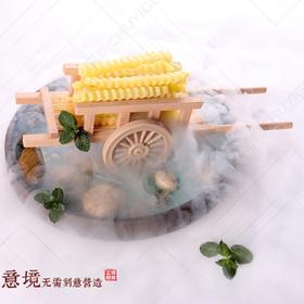 木质盛器【001】推车盛器 创意木器  木器餐具