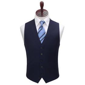 男士100%羊毛藏青色/黑色单排扣马甲