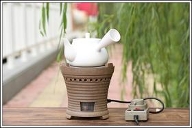 【年末感恩回馈】防干烧白泥壶+岩泥电炭炉,仅需580元