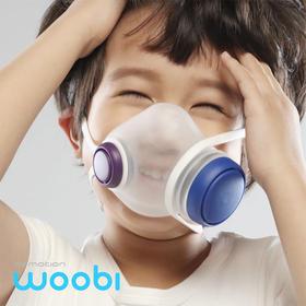 【48小时内发货】仅剩礼盒规格(1口罩+1滤芯)woobi新一代儿童清吸口罩 防雾霾PM2.5儿童口罩