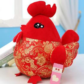 【美货】鸡年吉祥物公仔 大公鸡毛绒玩具布娃娃 女孩生肖福鸡公司年会礼品