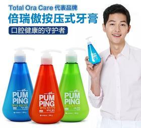 韩国 LG倍瑞傲按压式液体牙膏 美白防蛀健齿去口气