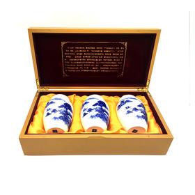 祁门红茶木盒瓷瓶100g*3