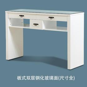 聚乐 板式双层钢化玻璃面 美甲桌(六个尺寸任选)发货周期:3-4天