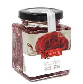 玫源鲜花玫瑰膏山东平阴玫瑰酱玫瑰蜜酱果酱228g济南特产