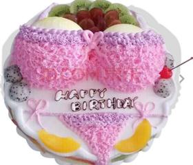 粉红比基尼~植脂奶油蛋糕
