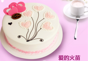 爱的火苗~植脂奶油蛋糕