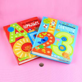 【2-6岁】第一本好玩的数学启蒙单词书 + 英语启蒙单词书!美国原版进口!
