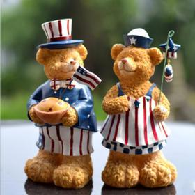 可爱小熊桌面摆件