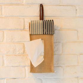 田园风麻质纸巾盒