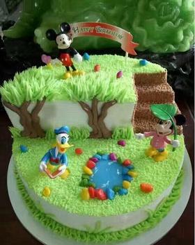 迪士尼情景蛋糕~儿童天然乳脂蛋糕