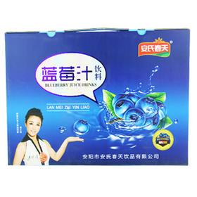 安氏春天 蓝莓汁饮料 280ml×8