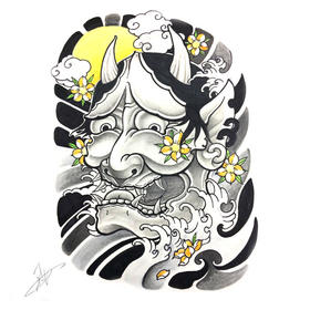 原创图 | 日式传统纹身般若 by 纹身师 K