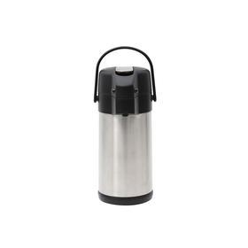 3L不锈钢砂光气压保温瓶 简约大方 优雅线条