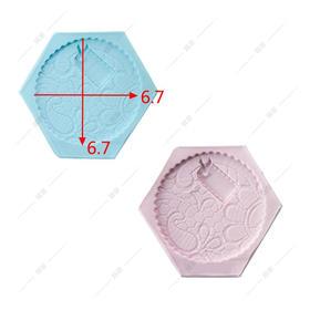 翻糖硅胶模具 干佩斯 圆形 花环 图案 拼布风 抽象画