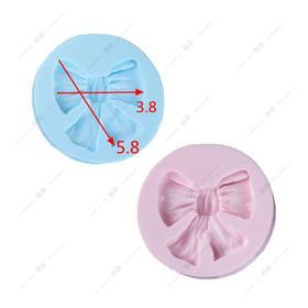 翻糖 硅胶模具 干佩斯 单个大蝴蝶结 褶皱蝴蝶结 领结 礼物 丝带