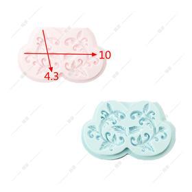 翻糖硅胶模具 干佩斯 KS同款 复古饰品 花与藤花 围边