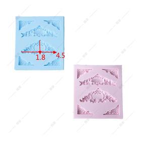 翻糖 硅胶模具 干佩斯  KS同款 欧式装饰 花边 镜框