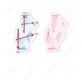 翻糖硅胶模具 干佩斯 动物系列 2017 鸡年生肖 公鸡 母鸡 生日