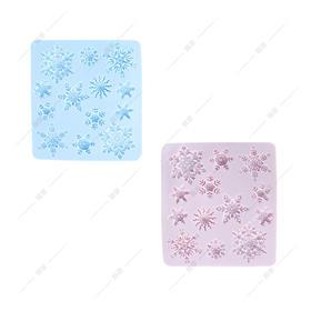 翻糖硅胶模具 干佩斯模具 雪花合集 六边形 冰雪奇缘 圣诞系列