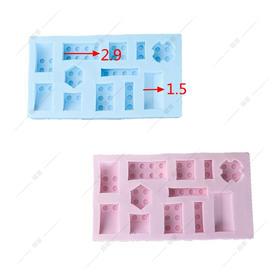 翻糖 硅胶模具 干佩斯 乐高主题 积木 玩具 城堡 砖块 房顶