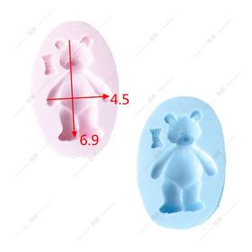 翻糖 硅胶模具 干佩斯  宝宝宴必备 动物系列 领结 小熊 玩具
