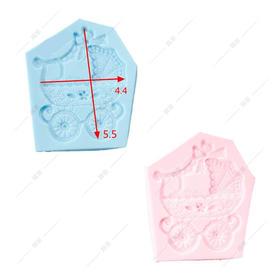 翻糖硅胶模具 干佩斯 婴儿车 宝宝宴必备 童话系列 欧式风 花边
