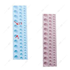 翻糖 硅胶模具 干佩斯 珍珠 项链 围边 饰品 大中小 连体 海洋系