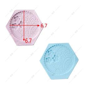 翻糖硅胶模具 干佩斯 圆形 花环 图案 拼布风 抽象画 花 森系