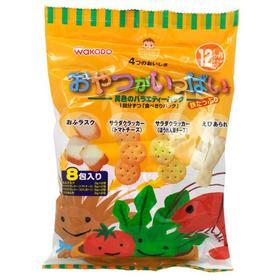 【3号库】日本进口宝零食 和光堂高钙高铁磨牙婴儿4种口味混合什锦饼干
